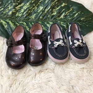 Two pairs toddler shoes, size 5 & 6